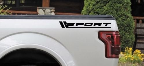 SPORT Vinyl Decal Truck bed Pickup turbo 4wd 4x4 diesel sticker logo emblem BLK