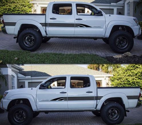Decal Sticker Graphic Side Door Bed Stripes for Toyota Tacoma 04-17 4x4 Offroad
