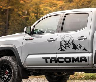 Toyota Tacoma TRD Sport mountains expedition graphics side stripe decal
