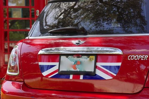 Mini Cooper S R56 Trunk Graphic - Red White Blue English Flag Decal