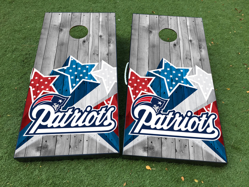 New England Patriots Football Team Cornhole Board Game Decal VINYL WRAPS with LAMINATED
