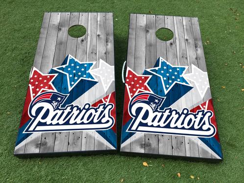 New England Patriots Fußballmannschaft Cornhole Brettspiel Aufkleber VINYL WRAPS mit LAMINIERT