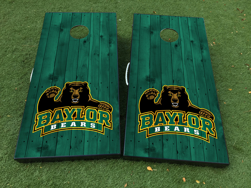 Baylor University Bears Fottball-Team Cornhole Brettspiel-Aufkleber VINYL WRAPS mit LAMINATED