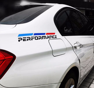 Car Body Tricolor Vinyl Decals For BMW Performance Sport Decoration Stickers