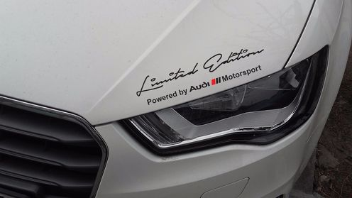 2 x Limited edition Audi Motorsport Decal Sticker compatible with Audi models
