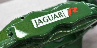 Set of 6x Jaguar R Brake Caliper Decal Sticker fits F type R type xkr xe xf xj