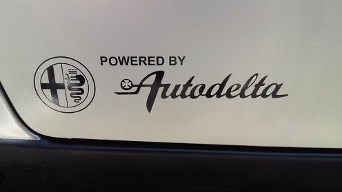Set of 2x Powered by Autodelta body decal fits Alfa Romeo Spider Giulia