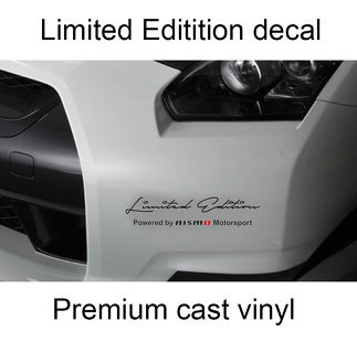2 x Limited Edition Nismo body side hood Decal Sticker fits Nissan Qashqai, Juke