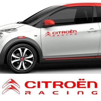 CITROEN x2 Racing Doors Banner Decal Vinyl Sticker C3 C4 C5