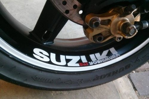 Suzuk GSXR 1000 750 600 wheels Racing yoshimura Decals Stickers Graphics
