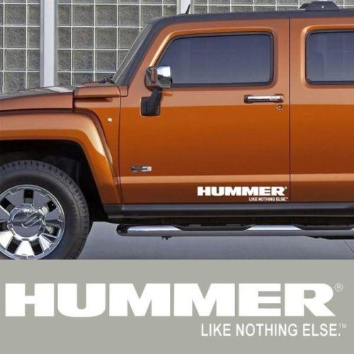 2X HUMMER H3 H2 H1 Seitenschürze Vinyl Körper Aufkleber Aufkleber Grafiken Emblem Logo