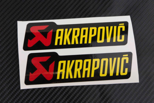 Akrapovic Decals Stickers for Exhaust Graphic Factory 2 Pcs