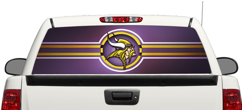 Minnesota Vikings NFL Rear Window Decal Sticker Pick-up Truck SUV Car 3