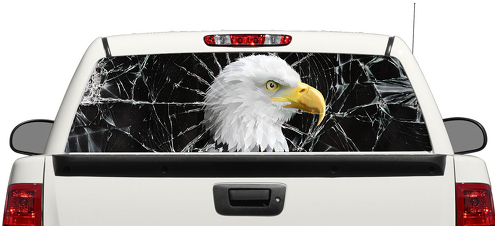 Eagle Brocken Glass Rear Window Decal Sticker Pick-up Truck SUV Car 3