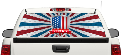 American Flag USA Rear Window Decal Sticker Pick-up Truck SUV Car 3