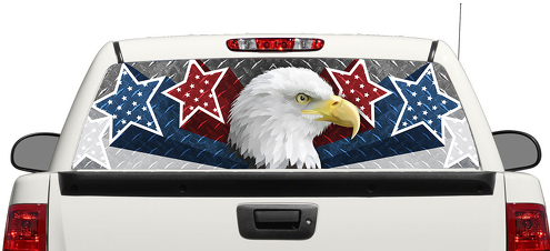 American Eagle USA Stars Rear Window Decal Sticker Pick-up Truck SUV Car 3