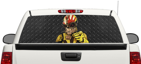 Five Finger Death Punch Skull Rear Window Decal Sticker Pick-up Truck SUV Car 3