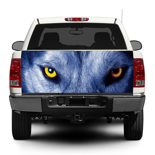 Wolf Eayes Hunter Tailgate Decal Sticker Wrap Pick-up Truck SUV Car