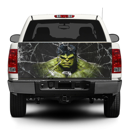 Hulk and broken glass  Tailgate Decal Sticker Wrap Pick-up Truck SUV Car