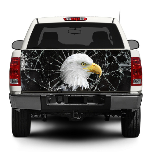Eagle Brocken Glass Tailgate Decal Sticker Wrap Pick-up Truck SUV Car