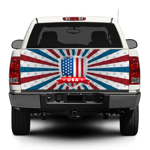 American Flag USA Tailgate  Decal Sticker Wrap Pick-up Truck SUV Car