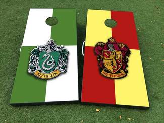 Slytherin and gryffindor team harry potter Cornhole Board Game Decal VINYL WRAPS with LAMINATED