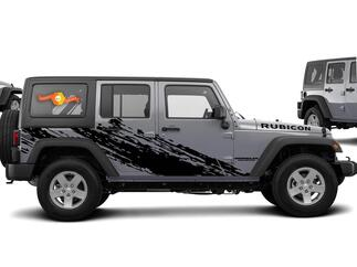 Super splash Graphic Decal for 07-17 Jeep Wrangler Unlimited JK 4 Door