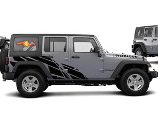 Straight splash Graphic Decal for 07-17 Jeep Wrangler Unlimited JK 4 Door
