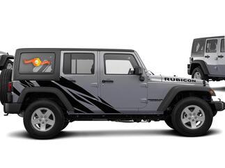 Straight Splash Graphic Decal für 07-17 Jeep Wrangler Unlimited JK 4 Türer # 201