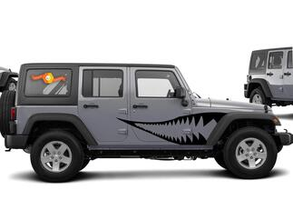 Warhawk Graphic Decal for 07-17 Jeep Wrangler Unlimited JK 4 Door