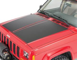 Vinyl Hood Blackout Decal for 84-01 Jeep Cherokee XJ