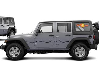 Barbed Wire Side Decals for 07-17 Jeep Wrangler Unlimited JK 4 Door
