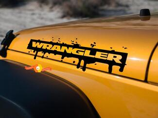 WRANGLER JEEP Decal Sticker splash blood hood graphics  SAHARA or RUBICON JK