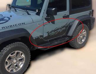 JEEP Decal Sticker splash side rocker door graphics 07-17  Wrangler JK 2 door
