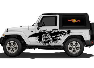 Don't tread on me JEEP Decal Sticker mud splash side door graphics for  Wrangler Rubicon JK 2 Door