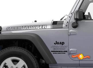 JEEP Decal Sticker STORMTROOPER star wars edition hood side door graphics  Wrangler Rubicon