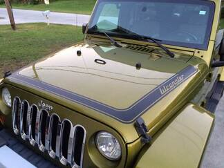 Retro stripes Decal Sticker for JEEP Wrangler Rubicon hood all colors