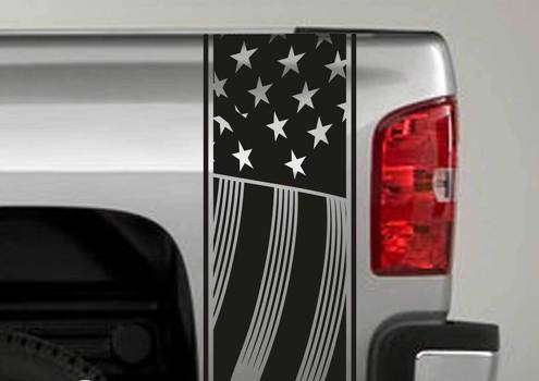US USA flag patriotic stripes Truck Bed side Decal Stickers fits to Dodge Ram Chevy Ford F150 Toyota