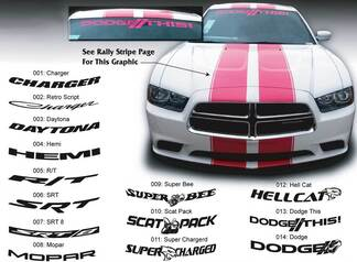 Dodge Charger HellCat Mopar Hemi SRT Super Bee Windshield Decal Sticker graphics fits to models 11-16