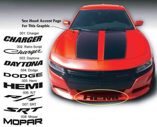 Dodge Charger R/T Mopar Daytona SRT Super Bee front Spoiler Decal Sticker graphics fits to models 15-16