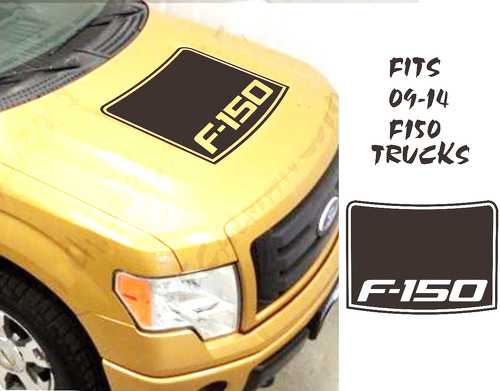 Ford F150 Contour Blackout Vinyl Hood Decal INSERT Fits 09-14 Trucks