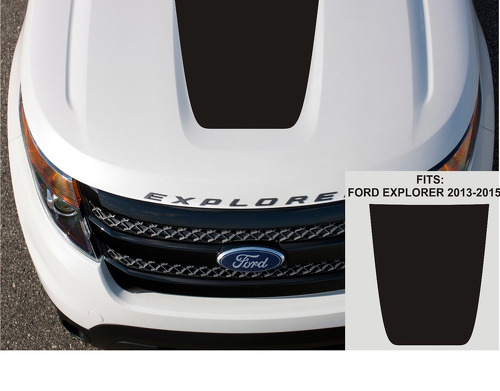 FORD EXPLORER 2013 - 2020 BLACKOUT SOLID VINYL HOOD DECAL