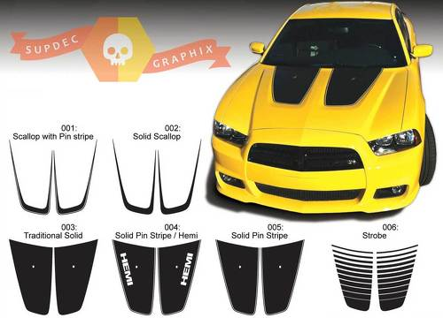 Dodge Charger Hood Accent Decal Sticker Hood graphics fits to models 2011-2014