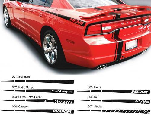 Dodge Charger Quarter Spear Hemi RT Decal Sticker Side graphics fits to models 2011-2014
