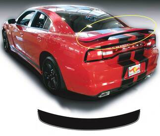 Dodge Charger Rear Spoiler Hemi RT Decal Sticker graphics fits to models 2011-2014