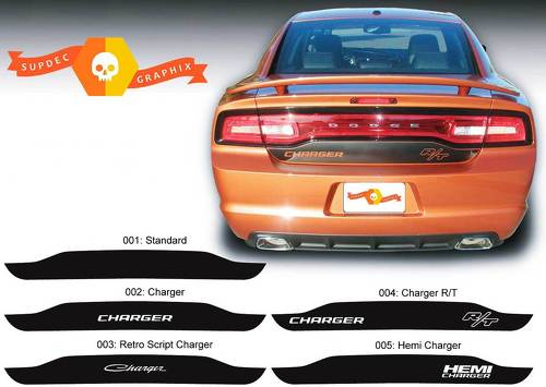 Dodge Charger trunk blackout Decal Sticker Hemi RT graphics fits to models 2011-2014