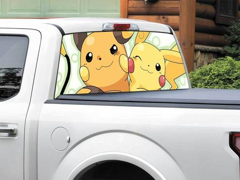 Pikachu Pokemon Raichu  Rear Window Decal Sticker Pick-up Truck SUV Car any size