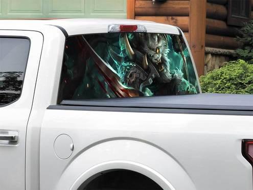 League Of Legends Rengar Heckscheibe Aufkleber Aufkleber Pick-up Truck SUV Auto jeder Größe