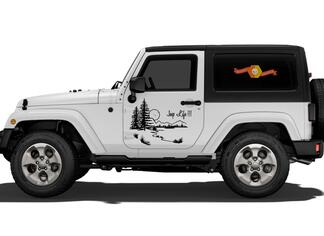 Jeep Life Vinyl Decal Graphic Side Wrangler Rubicon Sahara JK JKU TJ