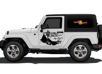 Jeep Life Vinyl Decal Graphic Side Wrangler Rubicon Sahara JK JKU TJ #2